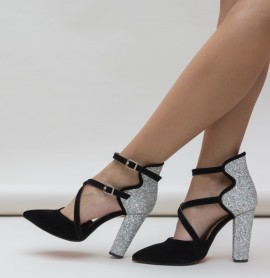 Pantofi Wils Argintii