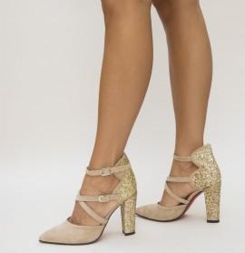 Pantofi Wils Bej
