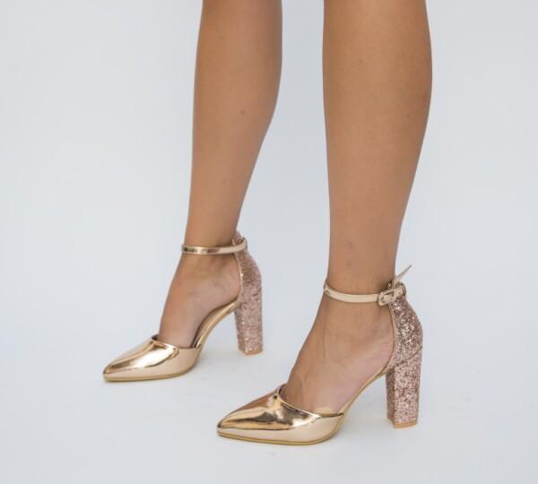 Pantofi Bobi Aurii