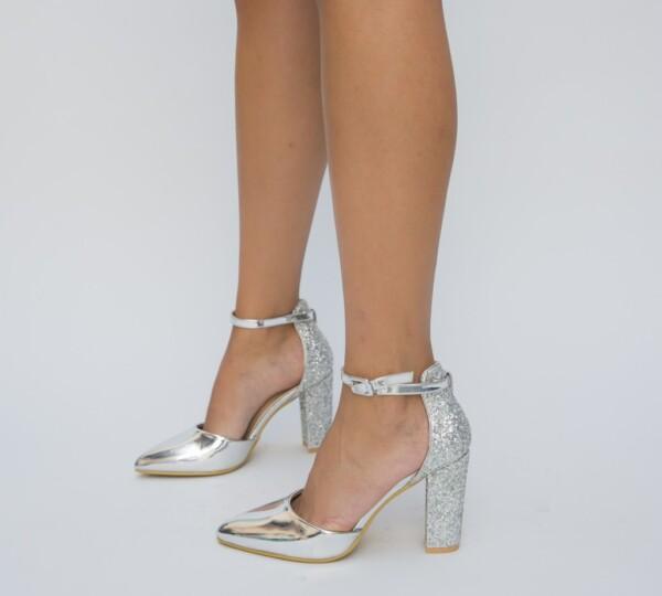 Pantofi Bobi Argintii
