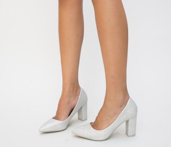 Pantofi Antic Argintii