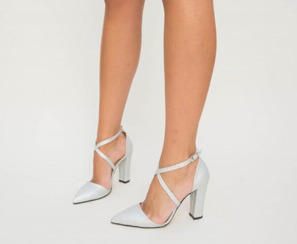 Pantofi Basia Argintii