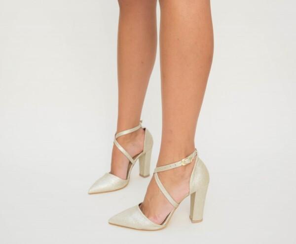 Pantofi Basia Aurii