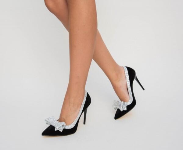 Pantofi Vigo Argintii