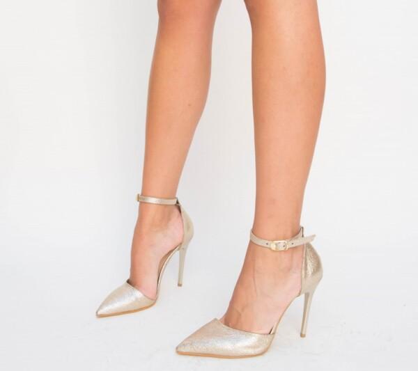 Pantofi Enigma Aurii