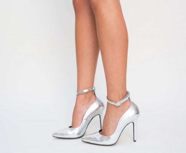 Pantofi Sabeta Argintii