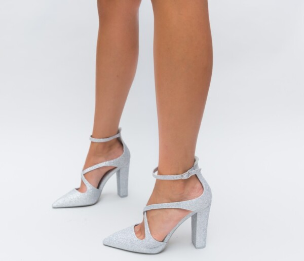 Pantofi Foxel Argintii
