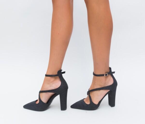 Pantofi Foxel Negri