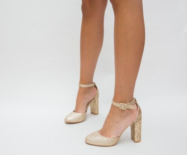 Pantofi Jingo Aurii