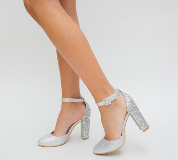 Pantofi Jingo Argintii