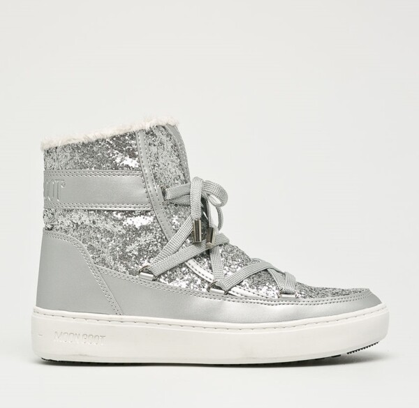 Cizme Moon Boot Pulse Glitter Argintii